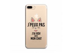 Coque iPhone 7Plus/8Plus J Ai Rdv Avec Mon Chat