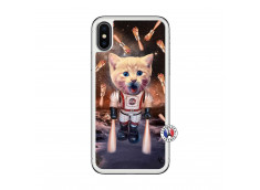Coque iPhone X/XS Cat Nasa Translu