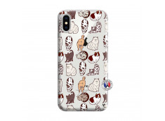 Coque iPhone X/XS Cat Pattern
