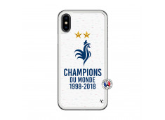 Coque iPhone X/XS Champion Du Monde Translu