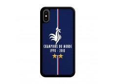 Coque iPhone X/XS Champions Du Monde 1998 2018 Noire