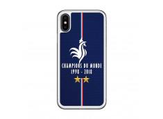 Coque iPhone X/XS Champions Du Monde 1998 2018 Transparente