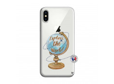 Coque iPhone X/XS Globe Trotter