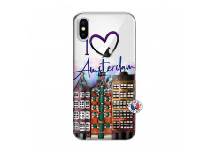 Coque iPhone X/XS I Love Amsterdam
