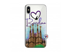 Coque iPhone X/XS I Love Barcelona