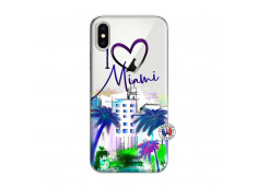 Coque iPhone X/XS I Love Miami