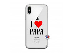 Coque iPhone X/XS I Love Papa
