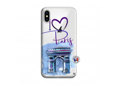 Coque iPhone X/XS I Love Paris Arc Triomphe