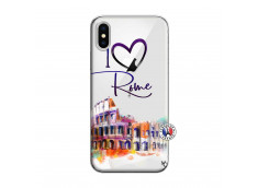 Coque iPhone X/XS I Love Rome