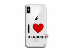 Coque iPhone X/XS I Love Toulouse