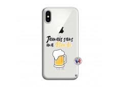 Coque iPhone X/XS Jamais Sans Ma Blonde