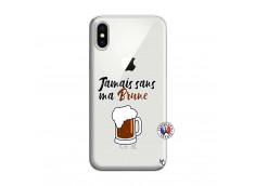 Coque iPhone X/XS Jamais Sans Ma Brune