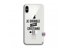 Coque iPhone X/XS Je Dribble Comme Cristiano