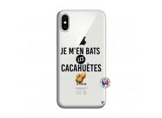Coque iPhone X/XS Je M En Bas Les Cacahuetes