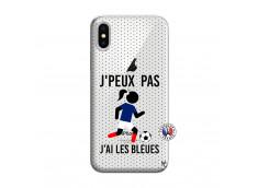 Coque iPhone X/XS Je Peux Pas J Ai Les Bleues Maillot