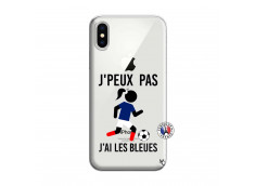 Coque iPhone X/XS Je Peux Pas J Ai Les Bleues