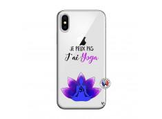 Coque iPhone X/XS Je Peux Pas J Ai Yoga