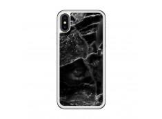 Coque iPhone X/XS Black Marble Translu