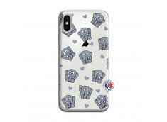 Coque iPhone X/XS Petits Elephants