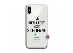Coque iPhone X/XS Rien A Foot Allez St Etienne