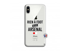 Coque iPhone X/XS Rien A Foot Allez Arsenal