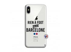 Coque iPhone X/XS Rien A Foot Allez Barcelone