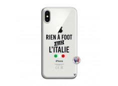 Coque iPhone X/XS Rien A Foot Allez L'Italie