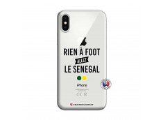 Coque iPhone X/XS Rien A Foot Allez Le Senegal