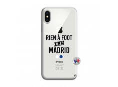 Coque iPhone X/XS Rien A Foot Allez Madrid