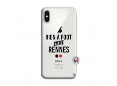 Coque iPhone X/XS Rien A Foot Allez Rennes