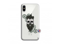 Coque iPhone X/XS Skull Hipster