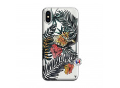 Coque iPhone X/XS Leopard Tree