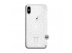 Coque iPhone X/XS White Mandala