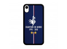 Coque iPhone XR Champions Du Monde 1998 2018 Noire