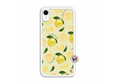 Coque iPhone XR Sorbet Citron Translu