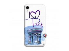 Coque iPhone XR I Love Paris Arc Triomphe