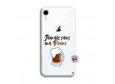 Coque iPhone XR Jamais Sans Ma Brune