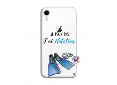 Coque iPhone XR Je Peux Pas J Ai Natation