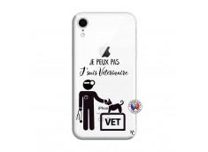 Coque iPhone XR Je Peux Pas Je Suis Veterinaire