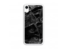 Coque iPhone XR Black Marble Translu