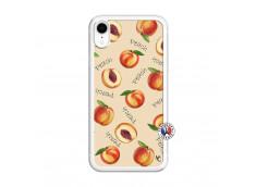 Coque iPhone XR Sorbet Pêche Translu
