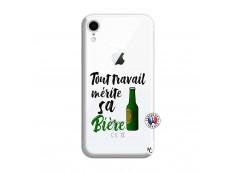 Coque iPhone XR Tout Travail Merite Sa Biere