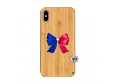 Coque Bois iPhone XS MAX Allez Les Bleues
