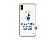 Coque iPhone XS MAX Champion Du Monde Translu