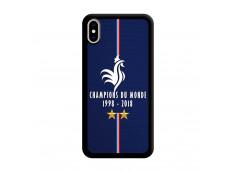 Coque iPhone XS MAX Champions Du Monde 1998 2018 Noire
