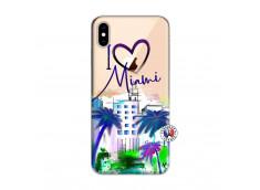 Coque iPhone XS MAX I Love Miami