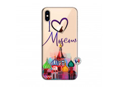 Coque iPhone XS MAX I Love Moscow