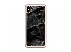 Coque iPhone XS MAX Black Marble Translu