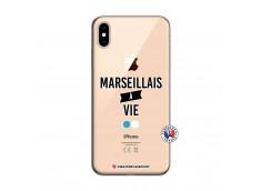 Coque iPhone XS MAX Marseillais à Vie