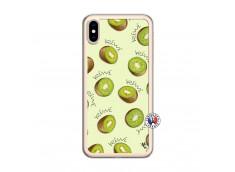 Coque iPhone XS MAX Sorbet Kiwi Translu